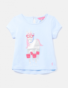 JOULES T-SHIRT MAGGIE BLUSEAHORS