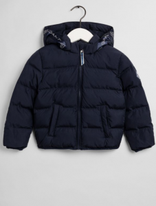 GANT JACKA LOCK-UP STRIPE PUFFER NAVY