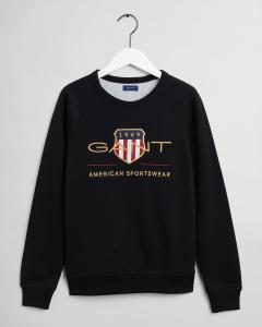 GANT ARCHIVE SHIELD C-NECK SWEAT BLACK