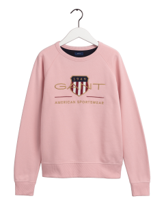 GANT ARCHIVE SHIELD C-NECK SWEAT PINK