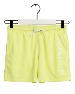 GANT LOGO SWIM SHORTS LIME