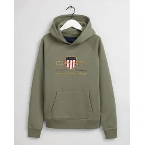 GANT ARCHIVE SHIELD HODDIE ARMY GREEN