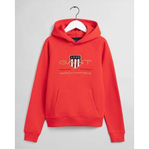GANT ARCHIVE SHIELD HODDIE LAVA RED