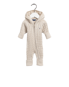 GANT COTTON CABLE ZIP COVERALL MANILLA MELANGE
