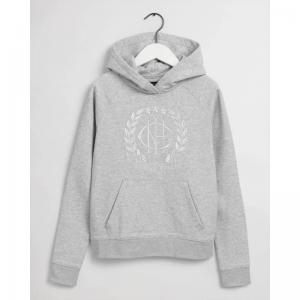 GANT MONOGRAM SWEATHOODIE GREY