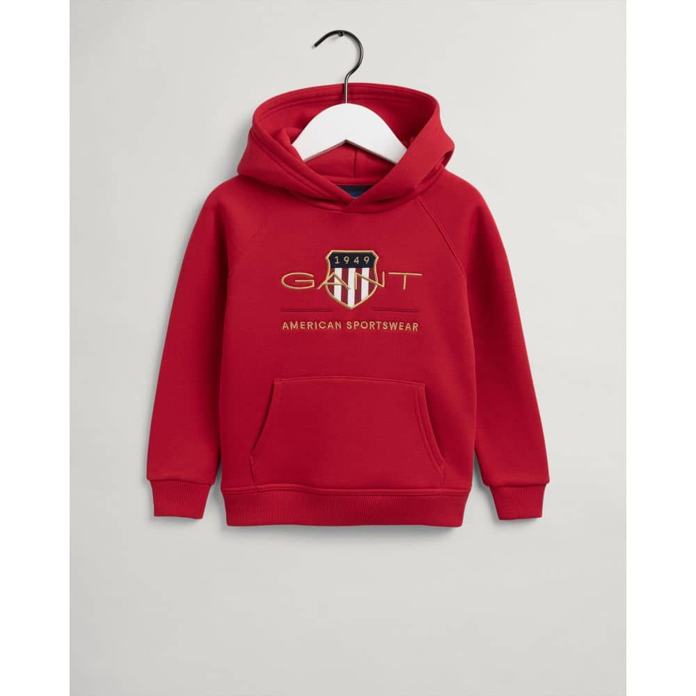 GANT ARCHIVE SHIELD HOODIE RED