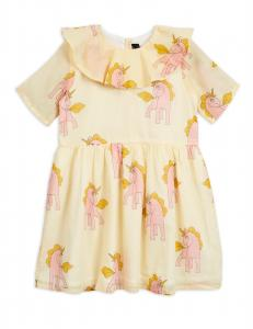 MINI RODINI UNICORN SS WOVEN DRESS