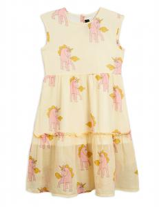 MINI RODINI UNICORNS WOVEN LONG DRESS