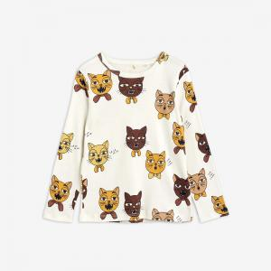 MINI RODINI CAT CHOIR AOP LS TEE OFF