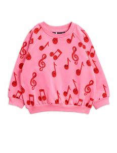 MINI RODINI NOTES AOP SWEATSHIRT ROSA