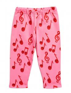 MINI RODINI NOTES AOP SWEATPANTS ROSA