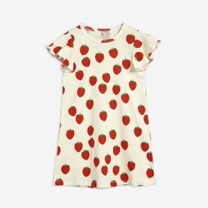 MINI RODINI STRAWBERRY WING DRESS