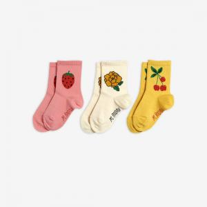 MINI RODINI SOCKS 3 PACK CHERRY