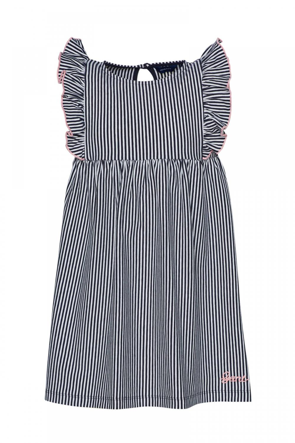 GANT STRIPED JERSEY DRESS BLUE