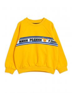 MINI RODINI SWEATSHIRT MOSCOW YELLOW