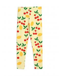 MINI RODINI LEGGINGS CHERRY LEMONADE YELLOW