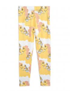 MINI RODINI UNICORN NOODLES LEGGINGS YELLOW
