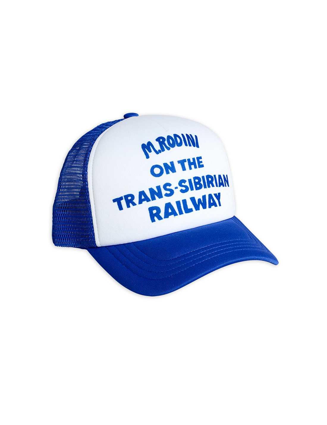 MINI RODINI TRUCKER CAP BLUE