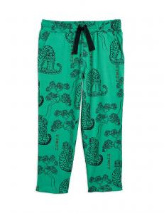 MINI RODINI TIGERS AOP TROUSERS GREEN