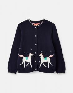 JOULES CARDIGAN MADISON NAVY UNICORN