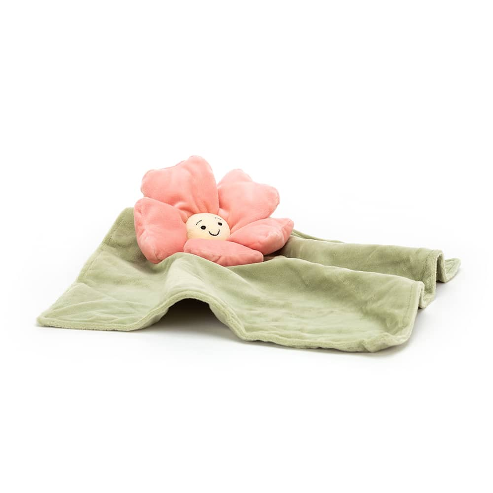 JELLYCAT SNUTTIS FLEURY PETUNIA SOOTHER PINK