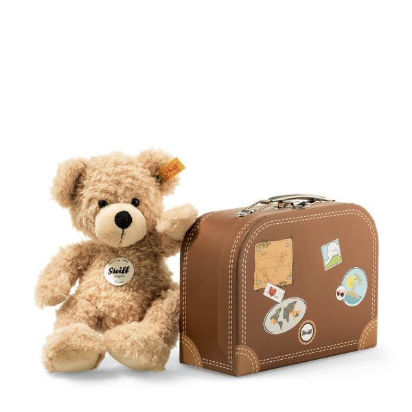 STEIFF FYNN TEDDY BEAR IN SUITCASE BEIGE 28