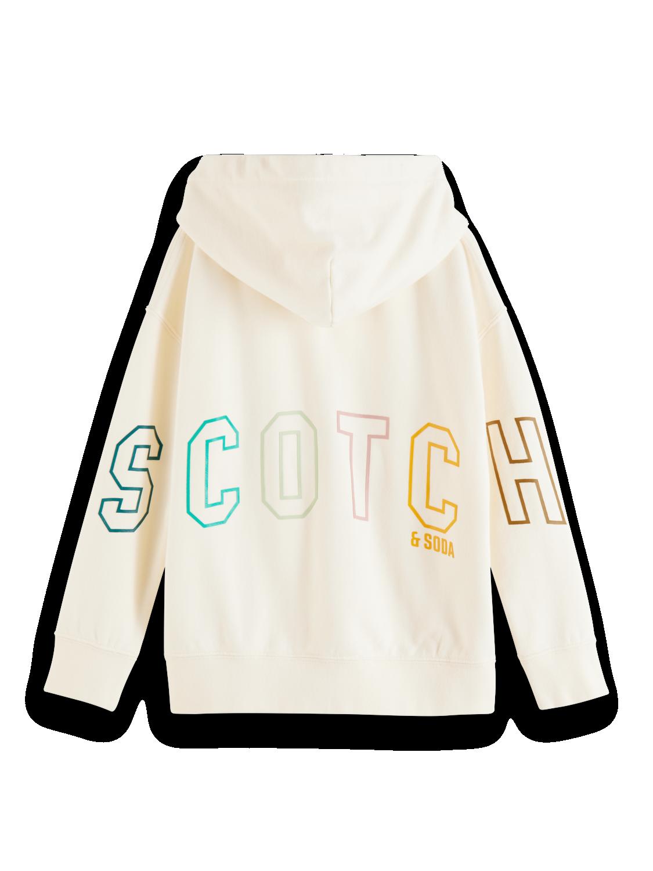SCOTCH ZIPHOOD 161933 ECRU
