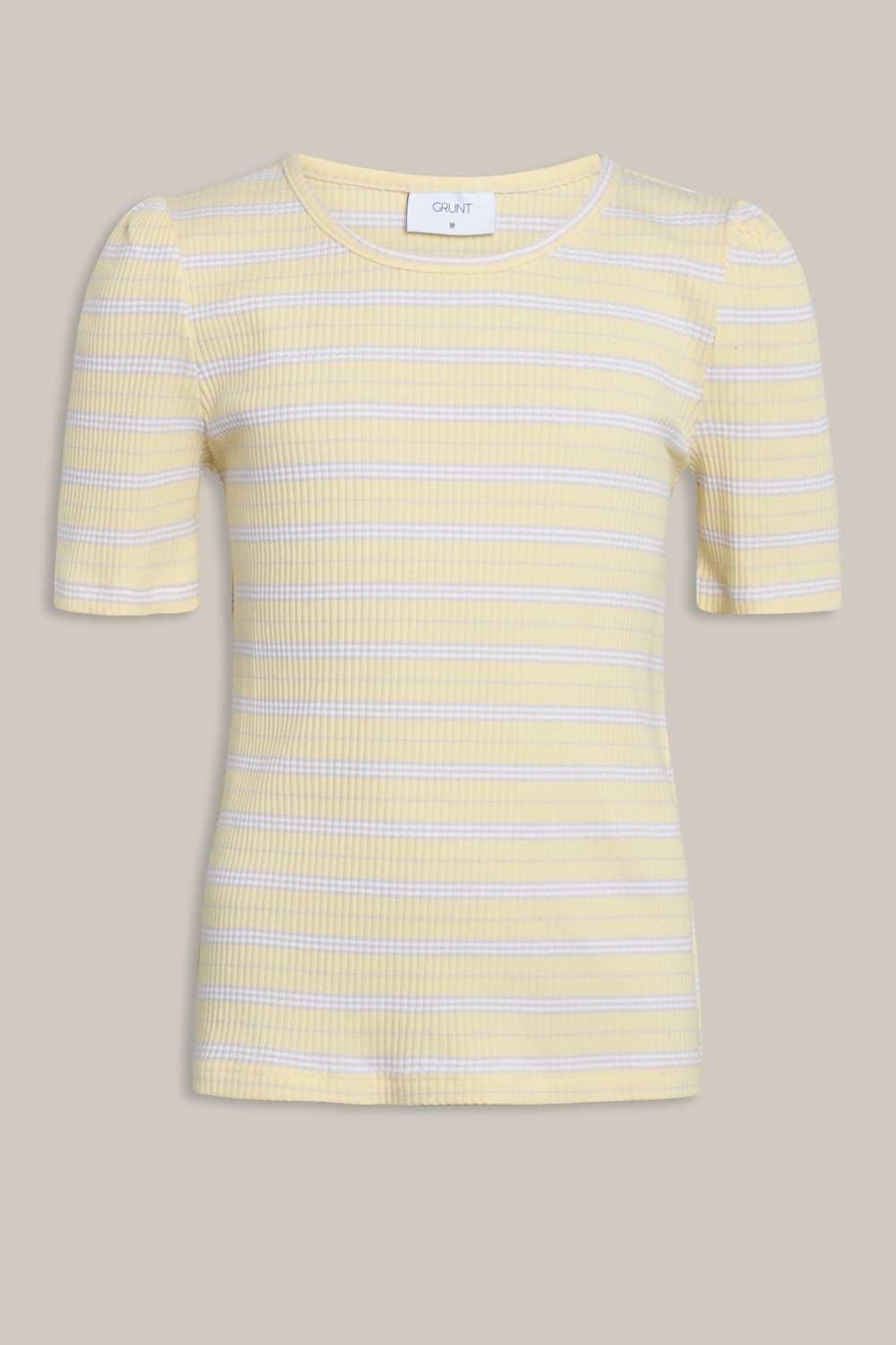 GRUNT JONET STRIPE TEE YELLOW