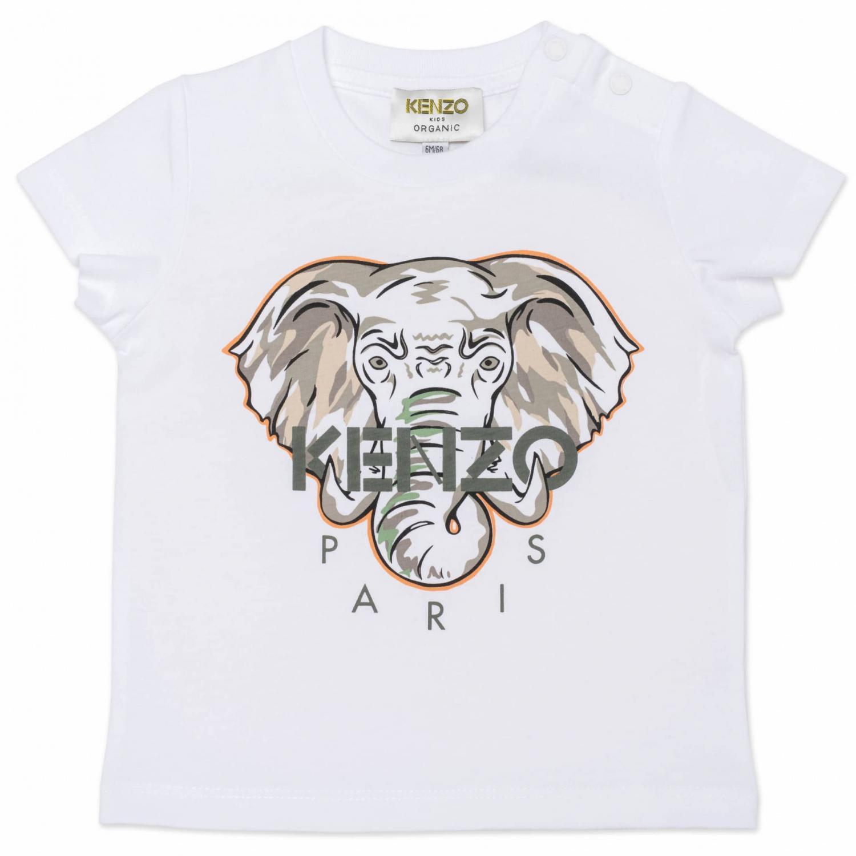 KENZO T-SHIRT ELEFANT WHITE/GREY