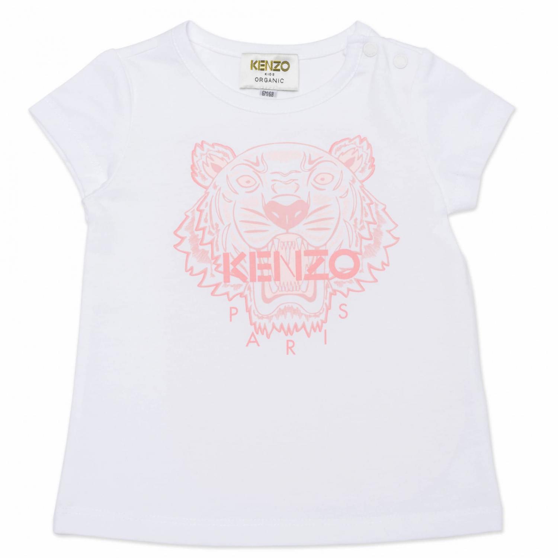 KENZO T-SHIRT TIGER WHITE/PINK K05043