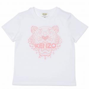 KENZO T-SHIRT TIGER WHITE/ROSA K15100