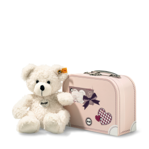 STEIFF LOTTE TEDDY BEAR IN SUITCASE WHITE 18