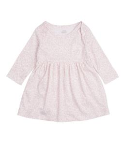 LIVLY KLÄNNING BABY DRESS MAUVE LEO FLOWER