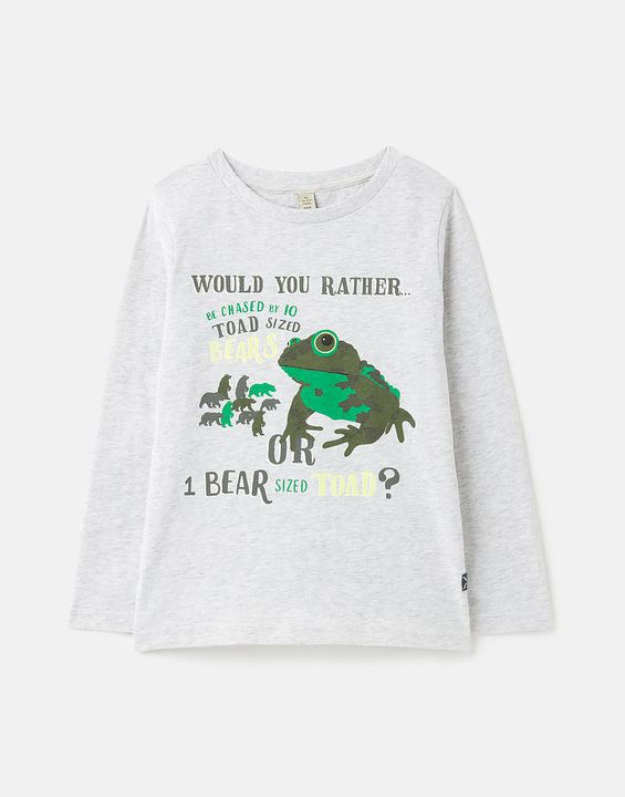 JOULES LS T-SHIRT 215197 GRYBRTOAD GREY