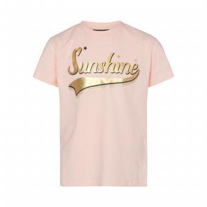 SOFIE SCHNOOR T-SHIRT PINK GOLD PRINT