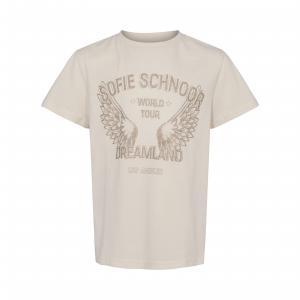 SOFIE SCHNOOR T-SHIRT OFF GOLD PRINT