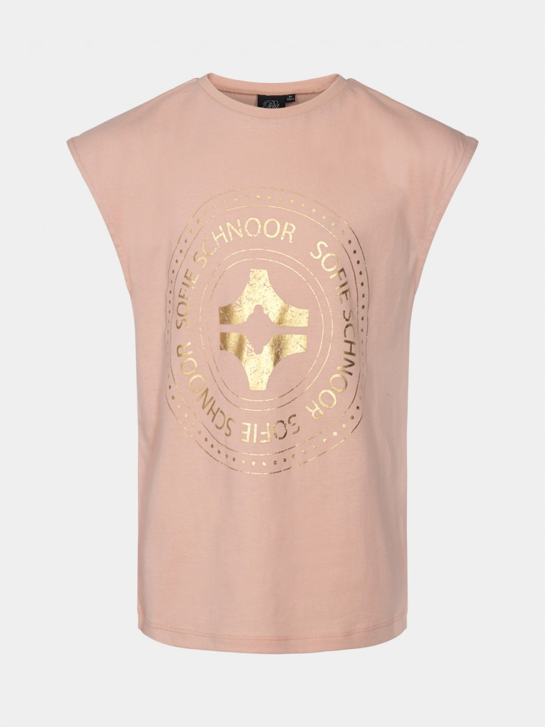 SOFIE SCHNOOR T-SHIRT P212207 ROSE GOLD PRINT