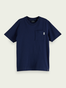 SCOTCH T-SHIRT 160115 NAVY M FICKA