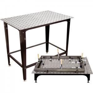 Svetsbord med avtagbara ben. Ställ svetsbordet på golvet eller direkt på din arbetsbänk.
