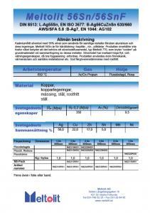 Silverlod kadmiumfria, Meltolit 56Sn, förp 0,1 Kg.