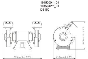 Bänkslipmaskin DS150 Metabo