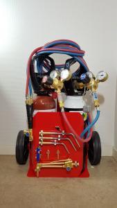 Gassvetsutrustning med gaskärra