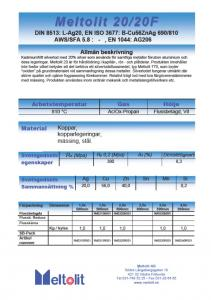 Silverlod kadmiumfria, Meltolit 20, förp 0,1 Kg.
