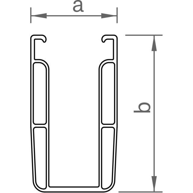 Novotegra - C-skena - C95 - 5,4 m x 95 mm