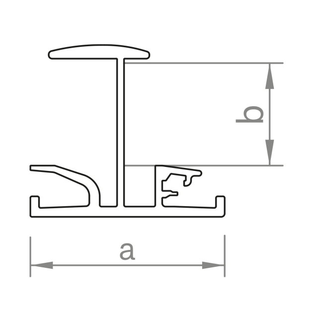 Novotegra - Iläggsskena - IR35 - Ofärgad 5,4 m x 35 mm