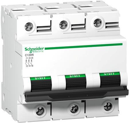 Schneider Electric - AC Automatsäkring 3-polig 125 A  C-kurva