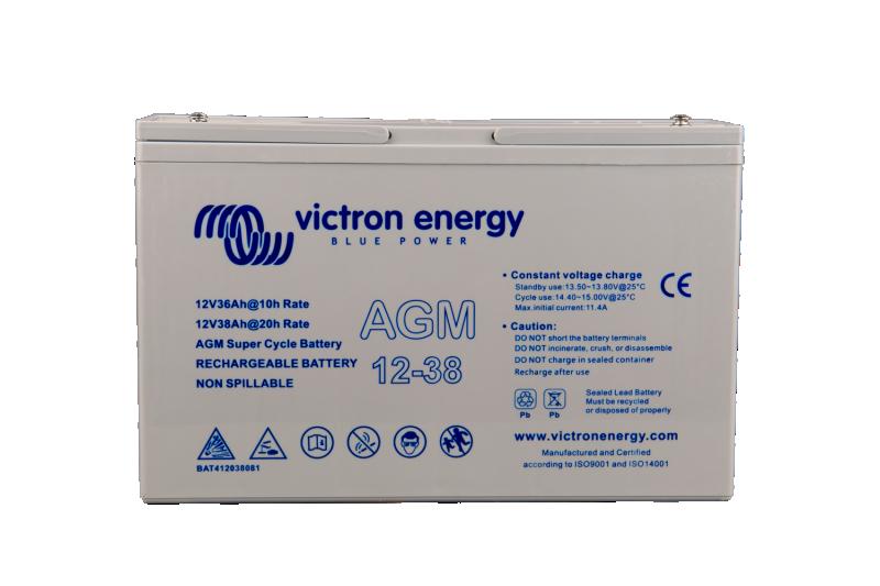 Victron - 12V/15Ah AGM Super Cycle Batt. (Faston-tab 6.3x0.8mm)