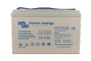 Victron - 12V/125Ah AGM Super Cycle Batt. (M8)