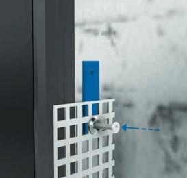 Novotegra - Skarvbeslag för skyddsplåt, fasadmontering