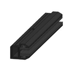 SoliTek - Ändklämma för GlasGlas solpaneler - Svart - 150 mm